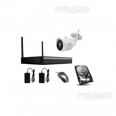2Mp WIFI IP kamerų vaizdo stebėjimo komplektas Longse 1-8 kameros 17