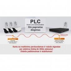Per elektros laidus veikiantis 4 IP kamerų FULL HD 1080p vaizdo stebėjimo komplektas Longse PLC2004A1S200 + DOVANA 1TB diskas