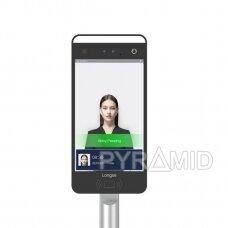 """Praėjimo kontrolės įrenginys su veido atpažinimo ir temperatūros matavimo funkcija Longse FK05GRW, 10"""" ekranas, WIFI"""
