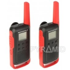 RINKINYS 2 RADIJO TELEFONŲ PMR MOTOROLA-T62 446.1 MHz ... 446.2 MHz