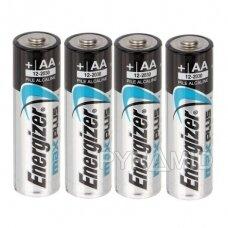 Šarminės baterijos ypač ilgo tarnavimo AA/LR6 ENERGIZER MAXPLUS, 1,5V, 4 vnt.