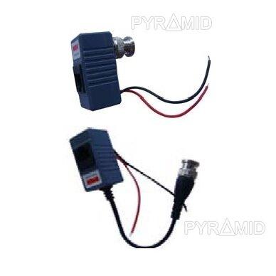 Signalo keitiklių komplektas UTP kabeliams į analoginį signalą su maitinimo perdavimu, pasyvus (2 vnt.)
