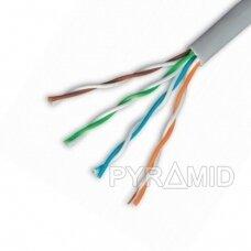 Tinklo kabelis UTP 1m be antgalių, skirtas patalpoms, CCA