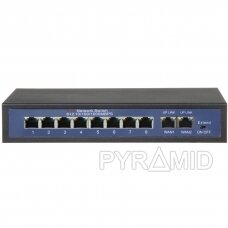 Switch 10/100MBps 8 port POE + 2 port uplink 10/100/1000MBps