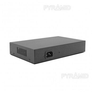 Tinklo šakotuvas 10/100Mbps 6 jungtys, 4xPOE 3