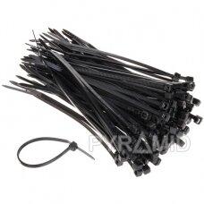 Užtraukiami kabelių dirželiai 150x3,5mm 100vnt., juodi