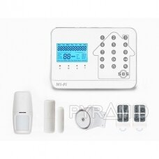 WIFI+GSM signalizacijos komplektas WALE PR-JT-99CST su belaidžiais davikliais, SmartLife programėlė