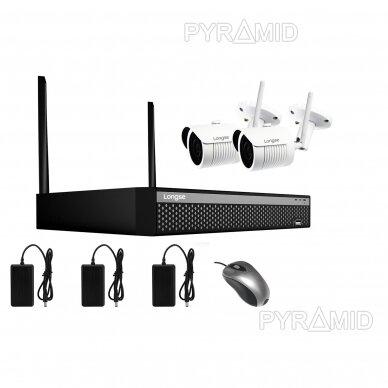 WIFI 2MP IP kamerų vaizdo stebėjimo komplektas Longse 1-8 kameros