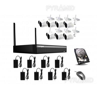 Комплект видеонаблюдения WIFI 1-8 камер, 2Mп, 3,6мм, Longse 19
