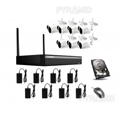 WIFI 2MP IP kamerų vaizdo stebėjimo komplektas Longse 1-8 kameros 20