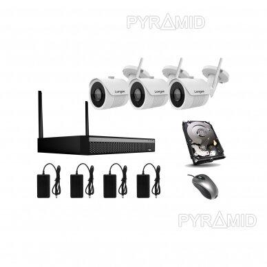 2Mp WIFI IP kamerų vaizdo stebėjimo komplektas Longse 1-8 kameros 12