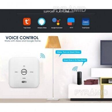 WIFI+GSM signalizacijos komplektas WALE PR-JT-10GDT su belaidžiais davikliais, SmartLife programėlė 3