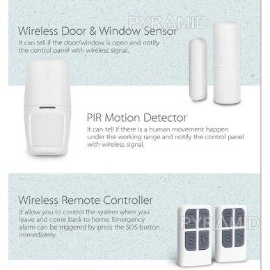 WIFI+GSM signalizacijos komplektas WALE PR-JT-10GDT su belaidžiais davikliais, SmartLife programėlė 7