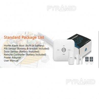 WIFI+GSM signalizacijos komplektas WALE PR-JT-10GDT su belaidžiais davikliais, SmartLife programėlė 8