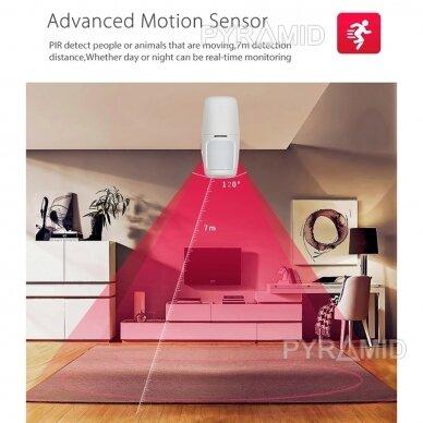 WIFI+GSM signalizacijos komplektas WALE PR-JT-10GDT su belaidžiais davikliais, SmartLife programėlė 4